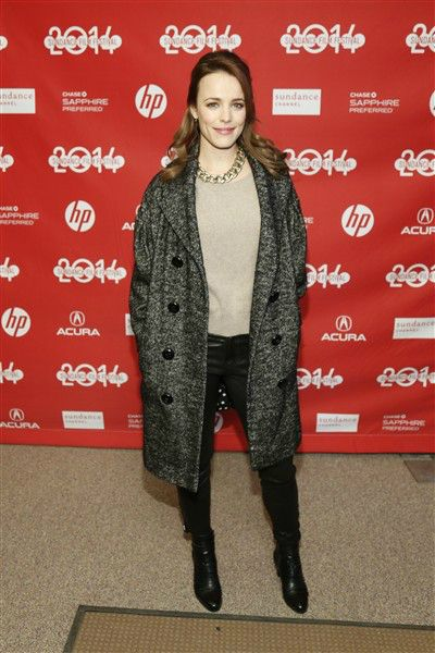 "Sundance Film Festival 2014: Rachel McAdams poses at the premiere of the film ""A Most Wanted Man"""