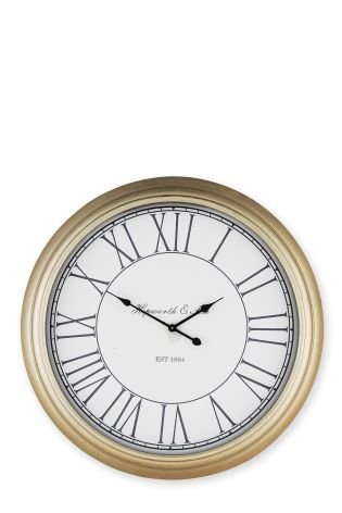 Extra Large Champagne Wall Clock Living Room Clock