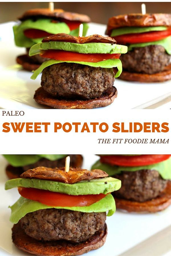 Paleo Sweet Potato Sliders {Gluten Free, Football Food, Tailgating Recipe, Healthy Dinner, Foodie Friday} @fitfoodiemama