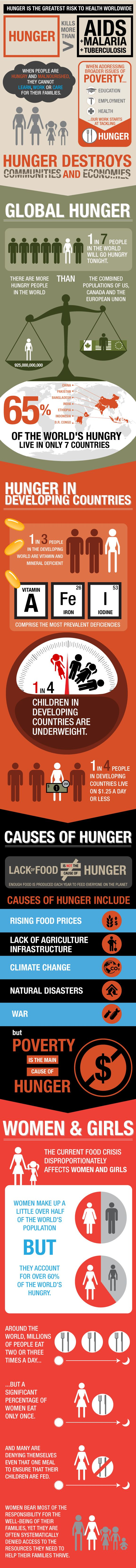 Hunger is the greatest risk to health worldwide. Useful and enlightening information from The FEED Foundation.