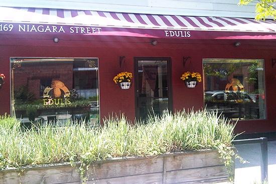 Edulis Restaurant, Niagara St., Toronto. Voted best new restaurant in Canada by EnRoute magazine, 2012.