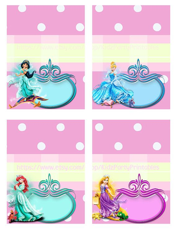 Disney Princess Birthday Party Food Tent  by KidzPartyPrintables