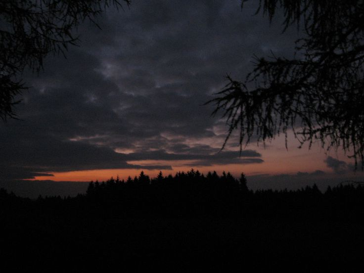 Říjnový západ slunce