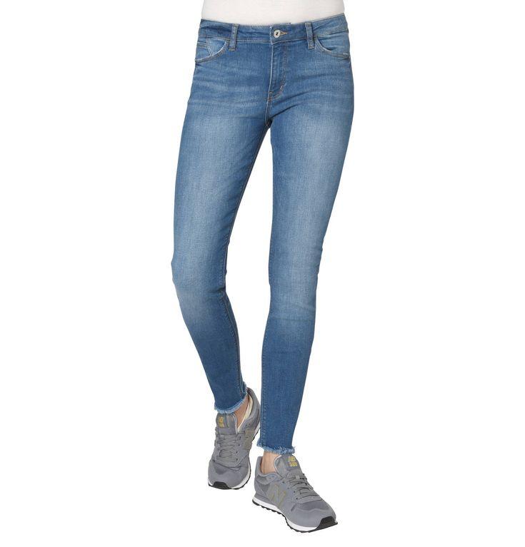 Jeans, Skinny Fit, Fransen an den Enden
