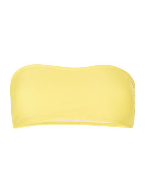 Bikini-Oberteil mit Bandeau-Top Gelb. Very nice yellow for Clear Spring. This yellow is relative neutral, not warm, nor cool. Also for Clear Winters.