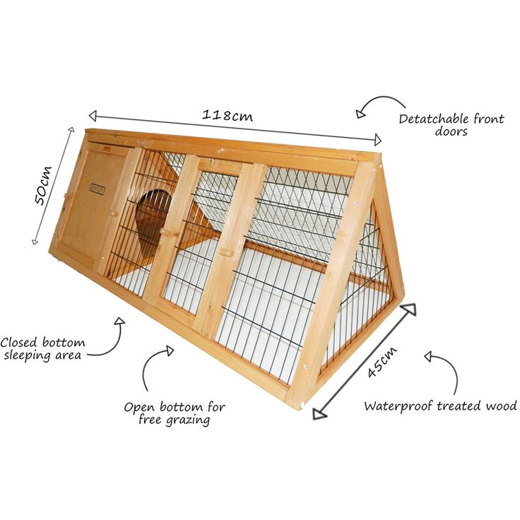 Large Rabbit Hutch Small Animal House Pet Cage with Roofs Wood ...