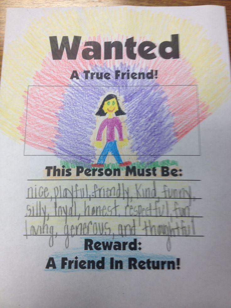 Wanted Friendship Poster http://musiccityschoolcounselor.files.wordpress.com/2012/10/wanted-friend-poster-mine1.jpg