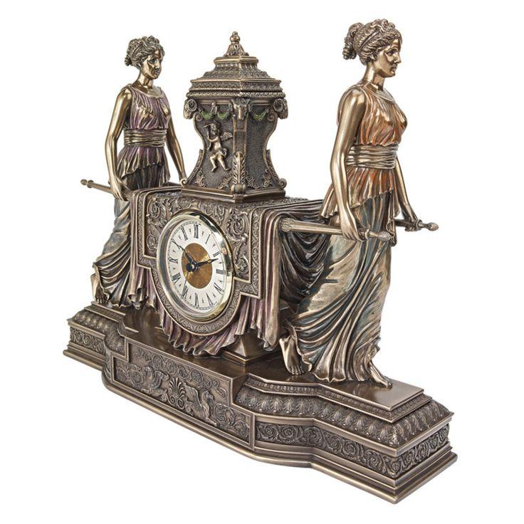 Design Toscano Versailles Maidens Sculptural Mantel Clock - WU75563