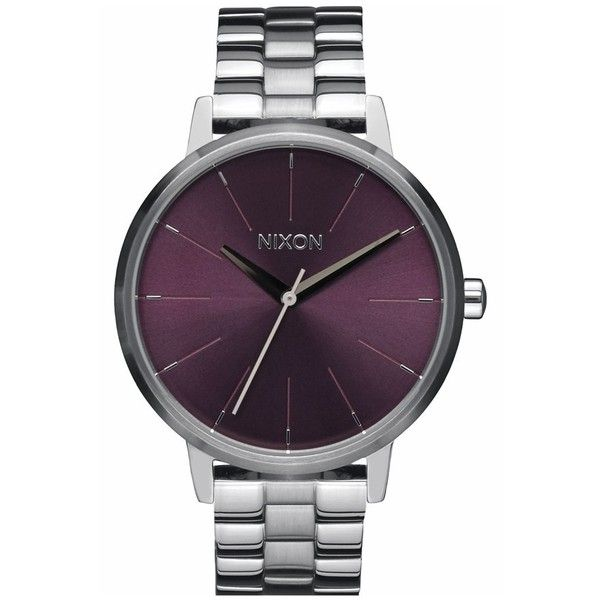 Women's Nixon 'The Kensingon' Bracelet Watch, 37Mm ($125) ❤ liked on Polyvore featuring jewelry, watches, nixon wrist watch, bracelet watch, watch bracelet, nixon watches and bezel jewelry