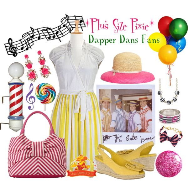 """Plus Size Pixie ~ Dapper Dans Fans"" by plussizepixie on Polyvore"
