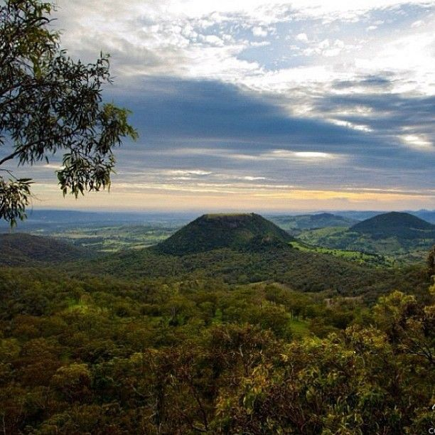 TableTop Mountain #Australia Photo by seeaustralia. As seen from Picnic Point Lookout on Tourist Road. At the Lookout there are beautiful garden and a café. You can also hike to Table Top Mountain.