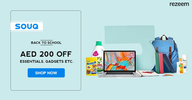 Souq Back To School Offer – Get Flat AED 200 Discount on School