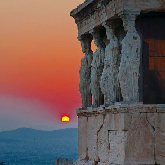 Goodnight from the beautiful 2,500 year old Erectheion temple in Greece. #greece #parthenon #acropolis #erectheion #athens #greek #greeks #greeklife #greekgirl