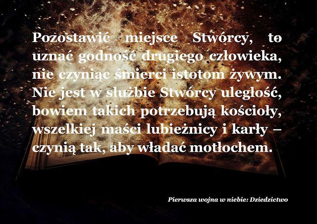 Marcin Łupkowski - prowincjonalny blog autorski z armagedonem w tle: Człowiek nie otrzymał Ziemi na wieczność