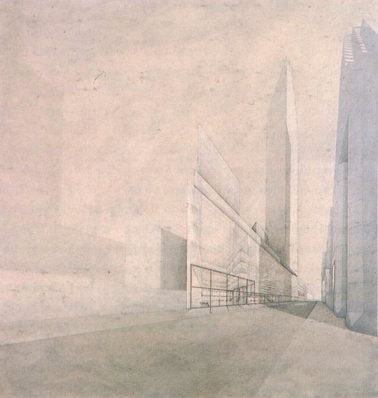 MoMA extension competition entry, New York, by Wiel Arets [1999]