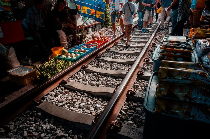 Train Market - City Break in Bangkok Thailand