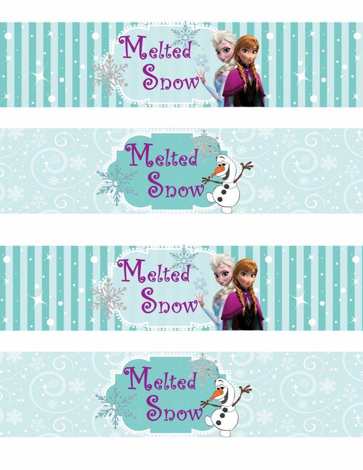 Frozen: Etiquetas para Imprimir Gratis. - Ideas y material gratis para fiestas y celebraciones Oh My Fiesta!                                                                                                                                                     Más