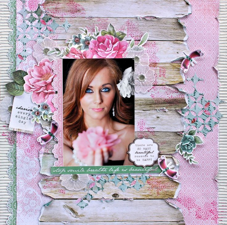 """Stop Smile Breathe - Kaisercraft DT using gorgeous new """"Oh So Lovely"""" Collection. http://cathycafun.blogspot.com.au/2015/04/kaisercraft-dt-oh-so-lovely-collection.html http://www.kaisercraft.com.au/blog/"""