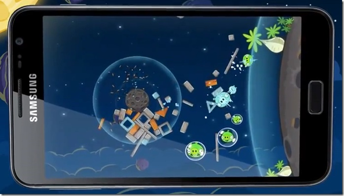 Galaxy Note users are gifted with the brand new edition of Angry Birds: Space where they get 30 levels of pro play for free and a Lazer Bird    Read More:  http://www.technograte.com/14405/galaxy-note-users-get-branded-version-of-latest-angry-birds-space-free/