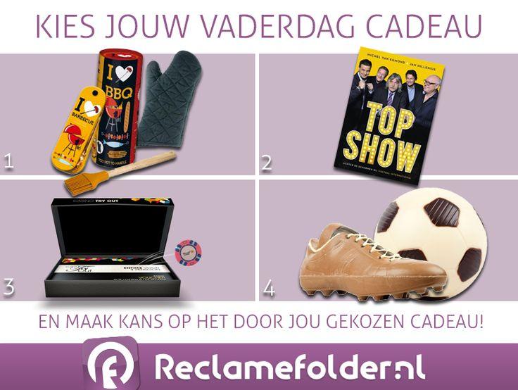 Een gokje wagen? Op de Facebook-pagina van Reclamefolder.nl verloten we 1 van de vier bovenstaande prijzen!