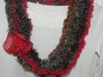 Sciarpa collana  realizzata  uncinetto