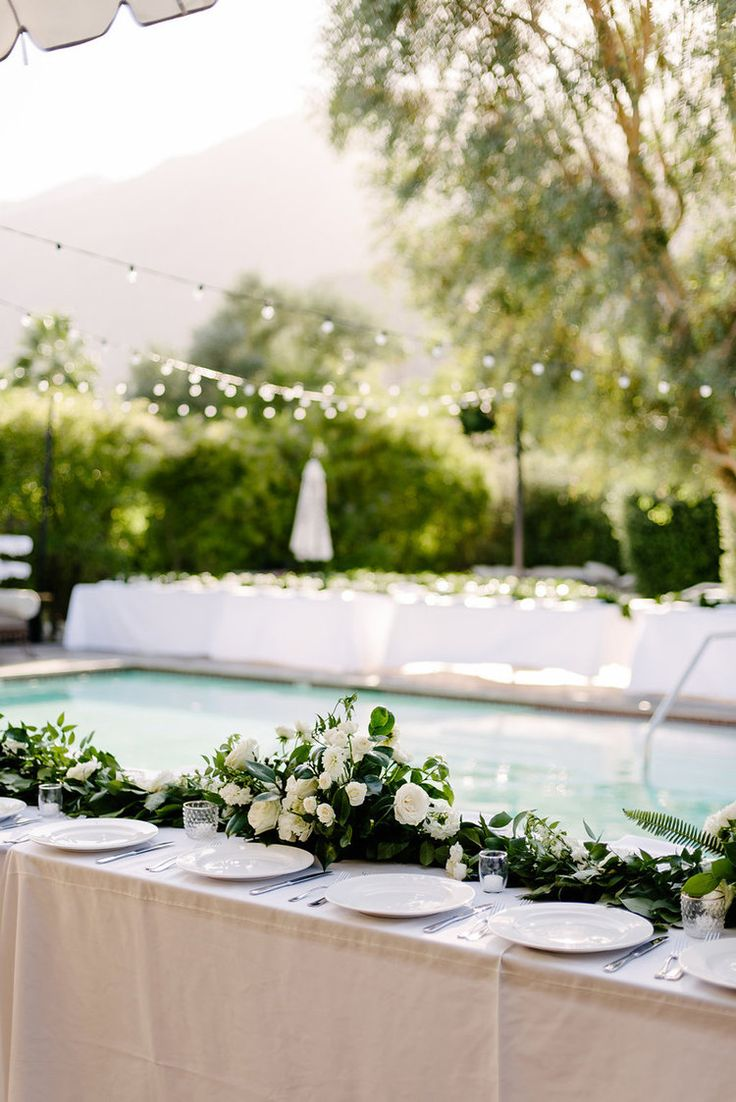 beautiful wedding locations in southern california%0A Green  u     white garland wedding   Colony Palms Weddings   Compass Floral    Wedding Florist in San Diego and Southern California   John Schnack  Photography