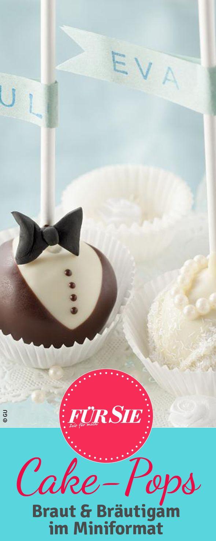 Süße Cake-Pops sind eine tolle Idee für die nächste Hochzeits-Tafel. Wir zeigen, wie's geht!