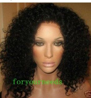 Free shipping! afro jerry/kinky curl virgin glueless lace wigs brazilain hair Malaysian peruvian virgin hair on http://AliExpress.com. $104.00 !!