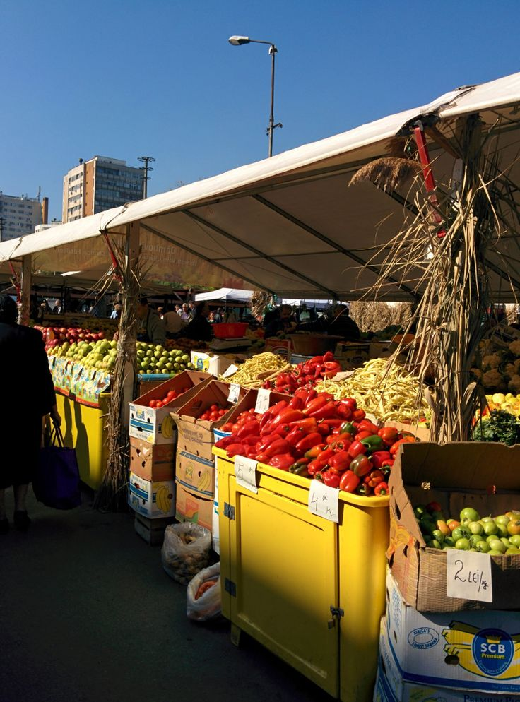 Autumn harvest at farmer's market in Bucharest