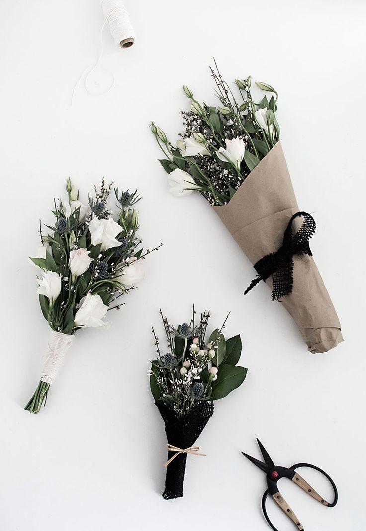 DIY - 3 easy ways to wrap flowers by homeyohmy.com