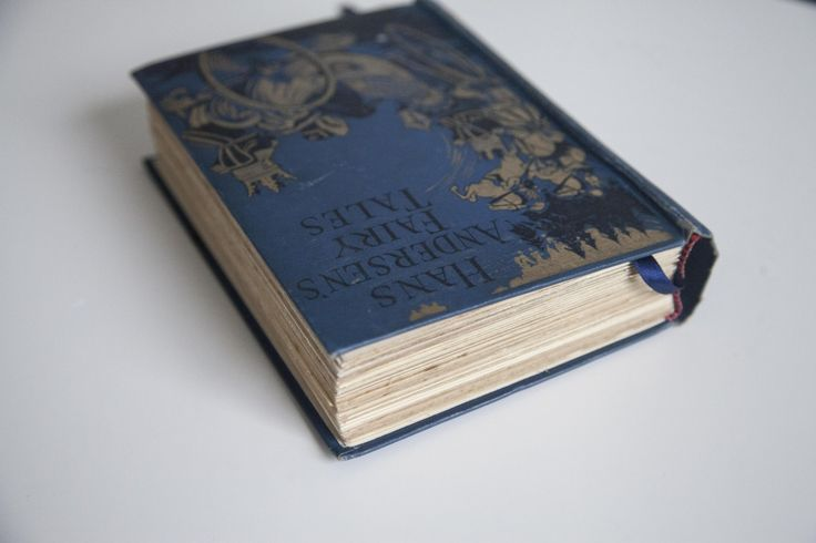 Handmade fairy tale vintage wedding guest book.