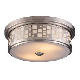 17 Best images about Electrical Fixtures on Pinterest | Casablanca ...:Portfolio W Satin Nickel Wall Flush Mount at Lowe's. Enhance the style of  your home with these unique ceiling flush mounts. The satin nickel finish  with a ...,Lighting