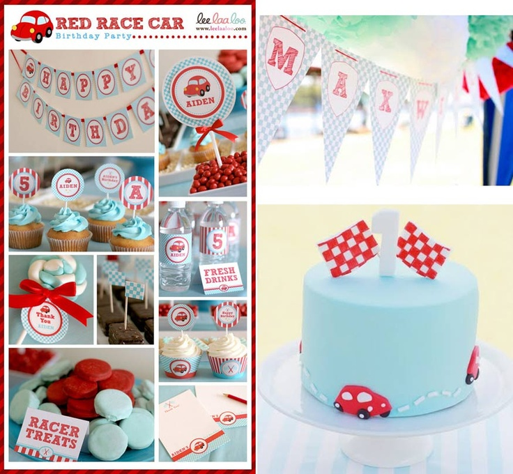 97 best Ethans Little Red Car 1st Birthday Party images on
