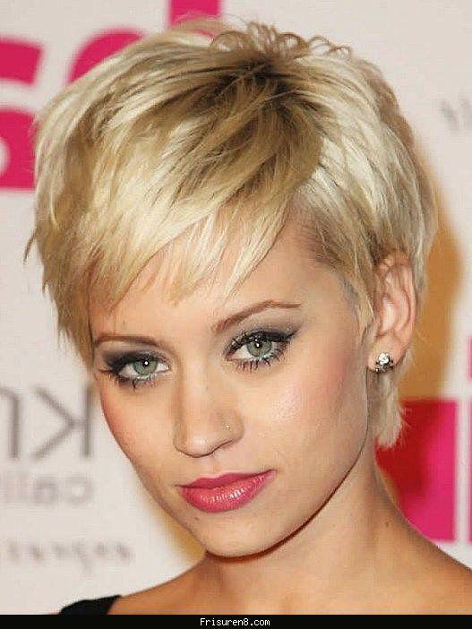Frisur rundes gesicht kurze haare