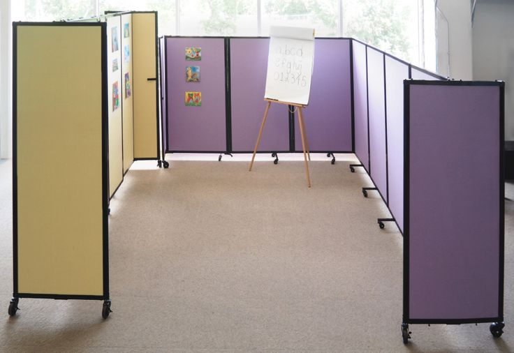 Create a classroom in seconds with portable room dividers.