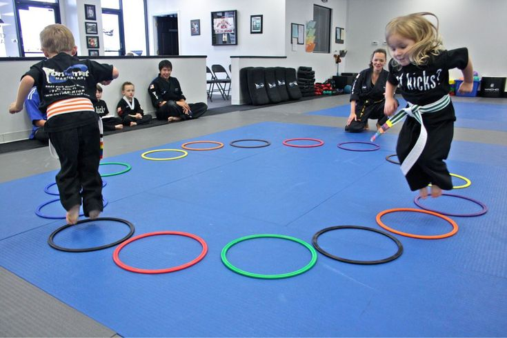 Hopping - this skill helps students develop their leg muscles, core strength, hopping while counting, balance, and more! Lithia, Florida - Kids Martial Arts Classes