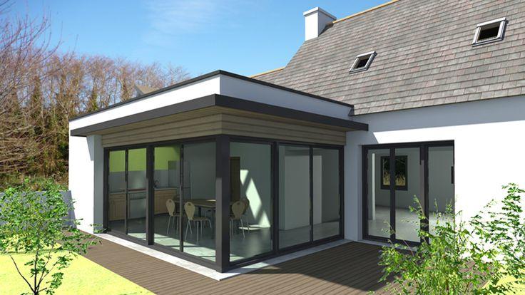 Extension vitrée en rez-de-chaussée sur maison traditionnelle. http ...