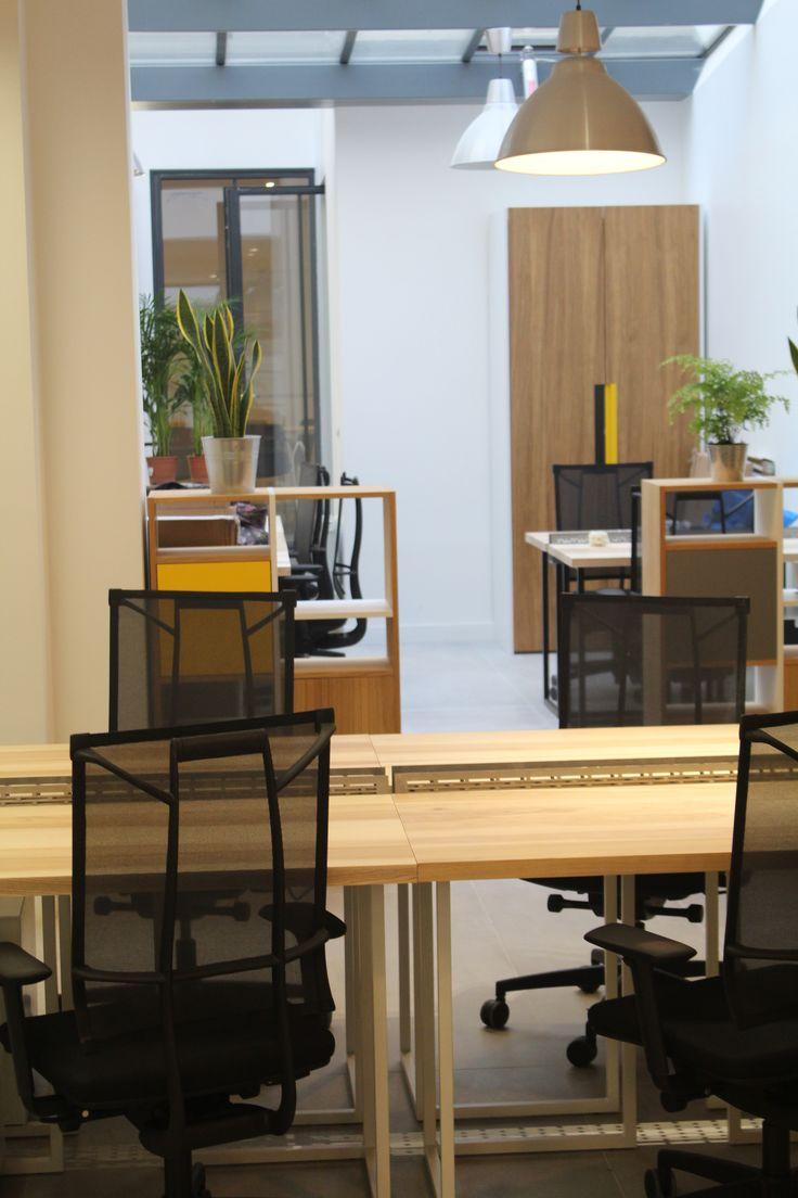 le.nid AI - projet 75_11è - aménagement d'un espace de travail en coworking - espace bureaux n° 3 côté vitrine