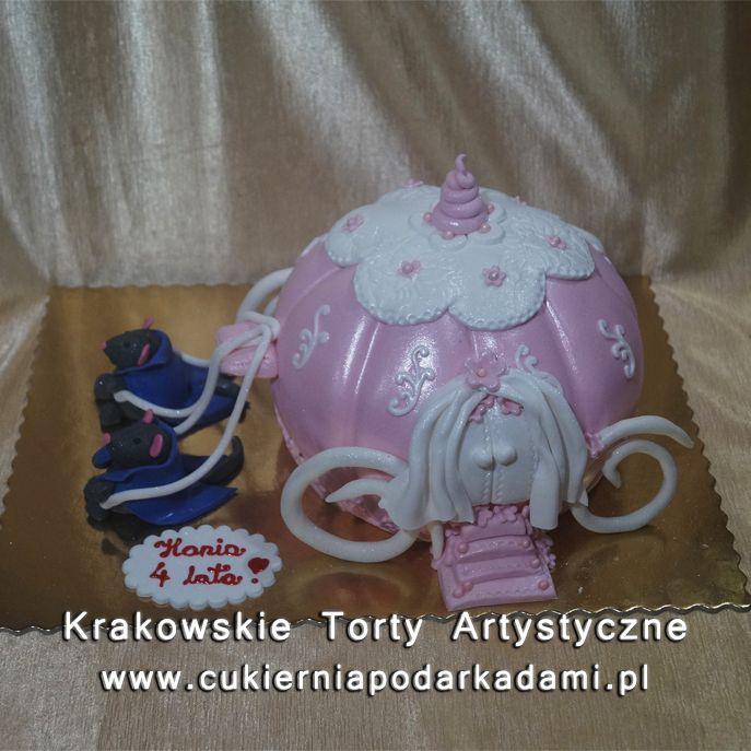 115. Tort dla księżniczki z karetą. Carriage cake for little princess.