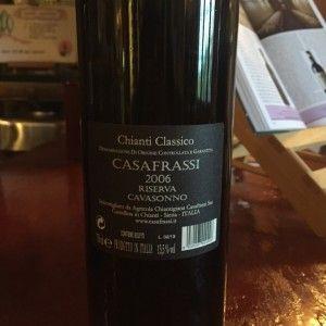 o vinho chianti- chianti classico riserva verso