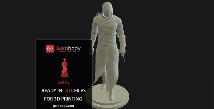 3D Model of Assassin from the Assassin's Creed by Gambody on DeviantArt