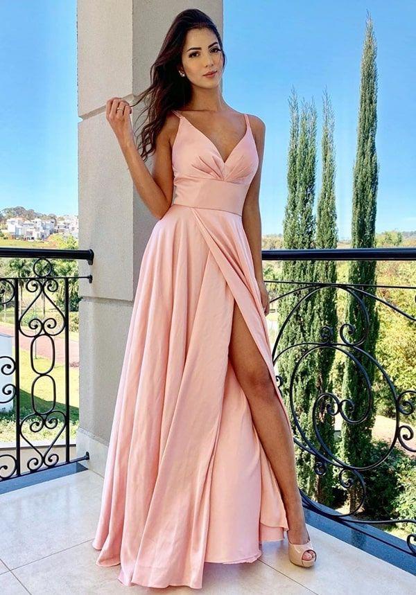 Vestido rosa para madrinha de casamento: 50 vestidos de festa longos em  vários tons de rosa nos modelos que estão em alta na mo… in 2019 | Fashion dresses, Fairytale dress, Stylish dresses