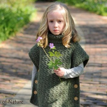 The Lakewood Pullover Poncho crochet pattern by Stitch of Nature
