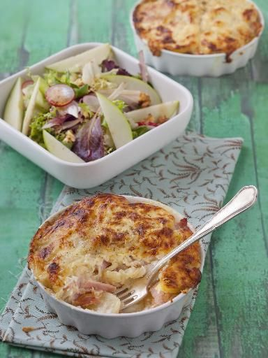 Gratin de pommes de terre à la paysanne - Recette de cuisine Marmiton : une recette