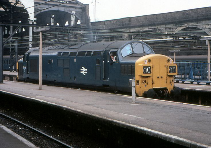 English Electric Class 37 Diesel Electric locomotive No. 37 118 off to Stratford for servicing.  Liverpool Street Station London, Monday 3rd May 1976.