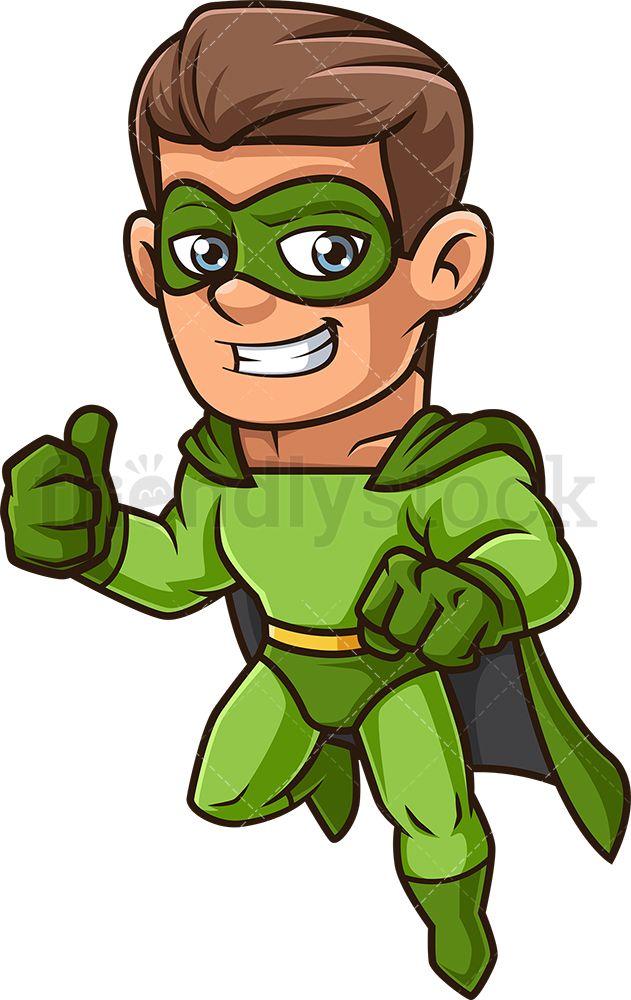 Man In Green Superhero Costume Cartoon Clipart Vector Friendlystock Green Superhero Super Hero Costumes Cartoon Clip Art
