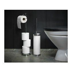 IKEA - BALUNGEN, Toilet roll holder, , No visible screws, as the hardware is concealed.The chrome finish is durable and resistant to corrosion.