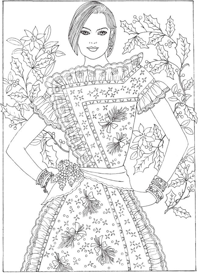 Welcome To Dover Publications Ch Christmas Fantasy Fashion