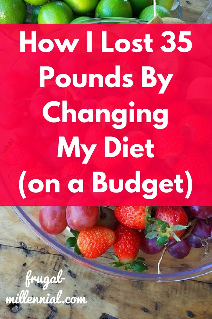 How I Lost 35 Pounds by Changing My Diet via @frugal_jen