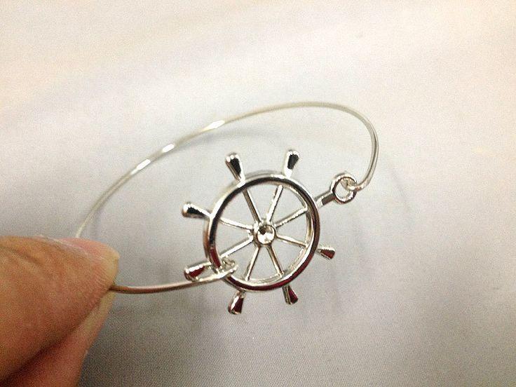 Ship Steering Wheel Bracelet, Ocean Inspired Jewelry, Pirate Ship Wheel, Pirate Bracelet, Ship Jewelry, Boat, Boating Gift(China (Mainland))